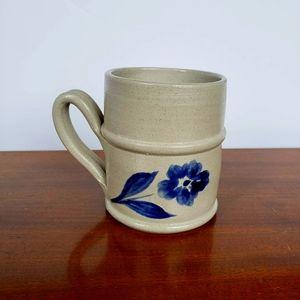 Vintage Williamsburg Blue Flower Stoneware Mug